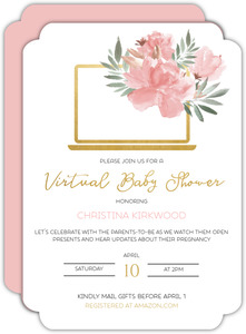 Floral Computer Baby Shower Invitation