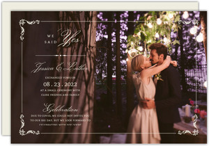 We Said Yes Photo Wedding Announcement Postcard