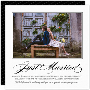 Simple & Elegant Just Married Photo Announcement