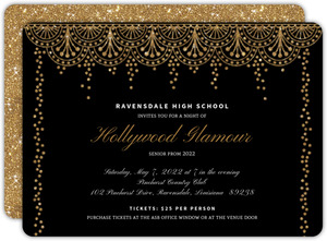 Old Hollywood Glam Prom Invitation  Prom Invitation Templates