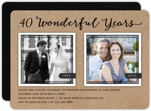 Wonderful Years 40th Anniversary Invitation