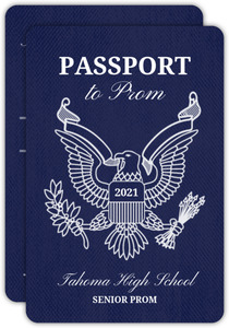 Travel Passport Prom Invitation