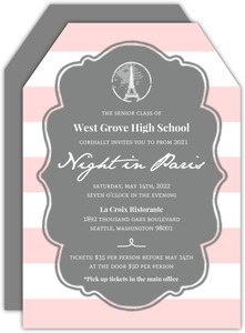Night In Paris Prom Invitation