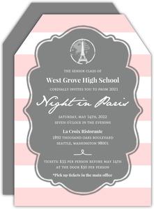 Prom invitations prom invites night in paris prom invitation stopboris Image collections