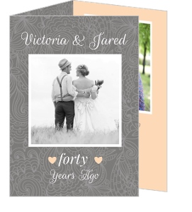 Simple Gray Photo Anniversary Invite - 4024