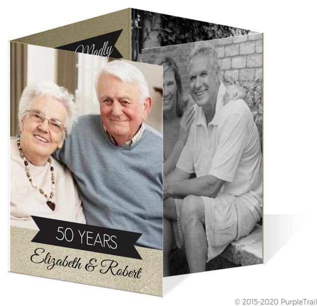 50th Wedding Anniversary Invitations.Shimmer Gold And Black 50th Wedding Anniversary Invitation