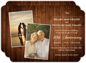 Wooden Picture Perfect Love  50th Wedding Anniversary
