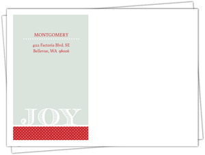 Red Monogram Stamp Custom Envelope