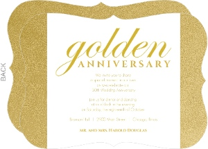 golden 50th anniversary party invitations