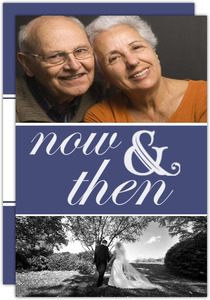 Now And Then Photo 50Th Anniversary Party Invitation