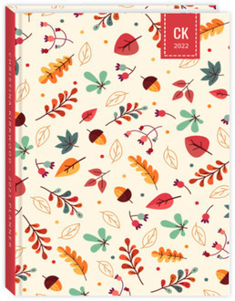 Cute Fall Pattern Daily Sewn Planner