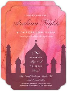 Arabian Prom Invitations
