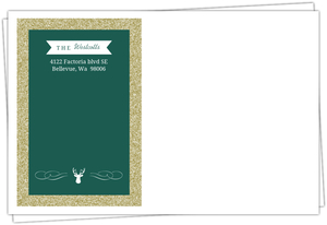 Emerald Green And Gold Glitter Envelope