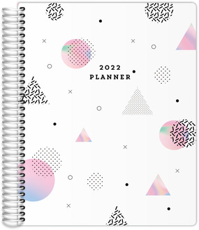 Holographic Shapes Teacher Planner 85x11