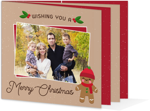 Gingerbread Family Booklet Christmas Card