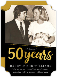 Simple Dotted Angle 50th Anniversary Invitation