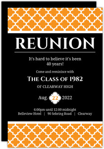 High School College Class Reunion Invitations Purpletrail