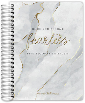 Faux Gold Fearless Marble Daily Planner