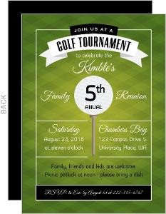 Modern Golf Tournament Family Reunion Invitation