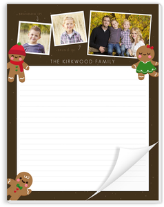 Sweet Holiday Greetings Christmas Notepad