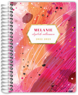 Pink Artistic Paint Daily Planner