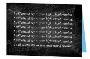 Lines on the Chalkboard High School Reunion Invitation
