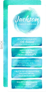 Beautiful Summer Watercolor Family Reunion Invitation