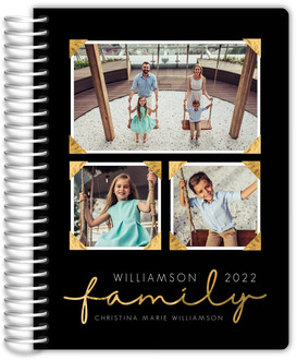 Faux Foil Family Photo Mom Planner