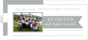 Gray And White Banner Photo Family Reunion Invitation