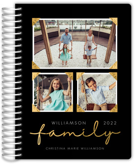 Faux Foil Family Photo Daily Planner