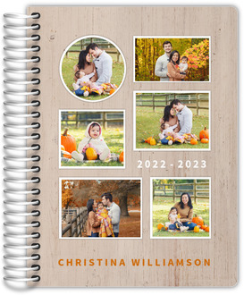 Rustic Family Photo Collage Academic Planner