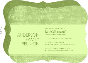 Texture Green Floral Family Reunion Invitation