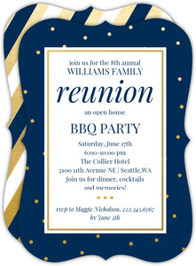 Classic Faux Gold Dots Family Reunion Invitation