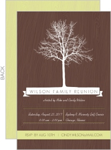 304583c58 Brown and Green Tree Family Reunion Invitation