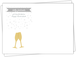 Shine Bright Gold And Gray Set Envelope