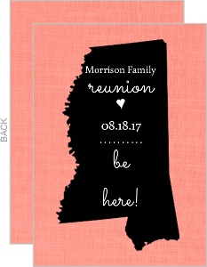 Coral State Family Reunion Invitation