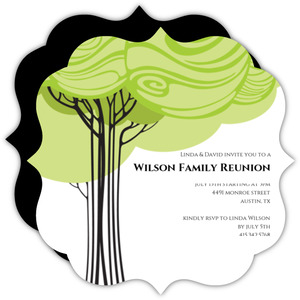 Swirly Family Tree Reunion Invitation