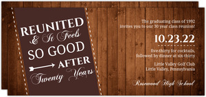 Rustic Reunited Class Reunion Invitation