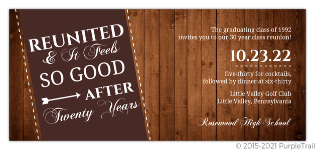 Rustic reunited class reunion invitation reunion invitations rustic reunited class reunion invitation stopboris Gallery