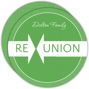 Green Linen Family Reunion Invitation