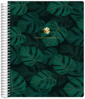 Monstera Leaf Pattern Daily Planner