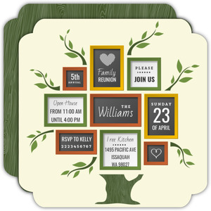 Fun Frames Family Reunion Invitation