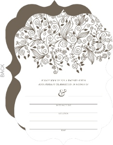Elegant And Simple Anniversary Fill In The Blank Invite