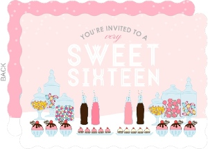 Very Sweet Sixteen Birthday Fill In The Blank Invitation