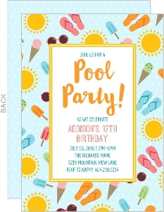 Summer Fun Birthday Party Invitation
