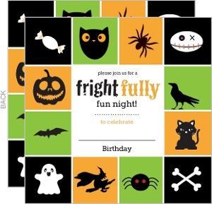 Kids Halloween Birthday Party Invitation