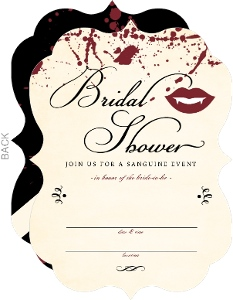 Vampire Bridal Shower Fill In The Blank Halloween Party Invitation