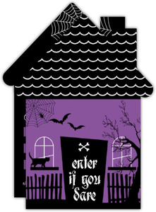 Spooky Haunted House Fill In The Blank Halloween Invitation