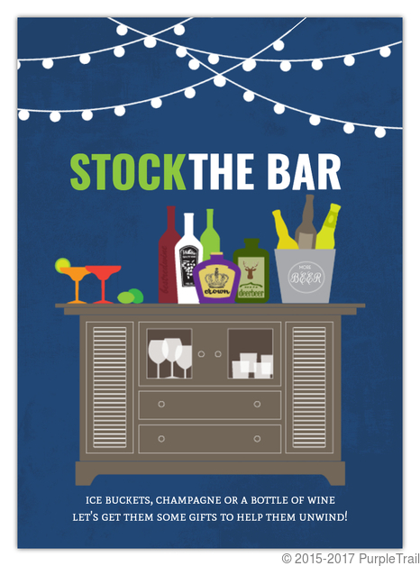 Stock The Bar Housewarming Fill In The Blank Invitation Blank