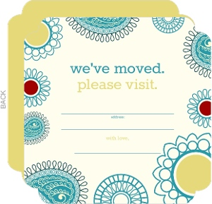 Colorful Paisley Fill In The Blank Moving Announcement